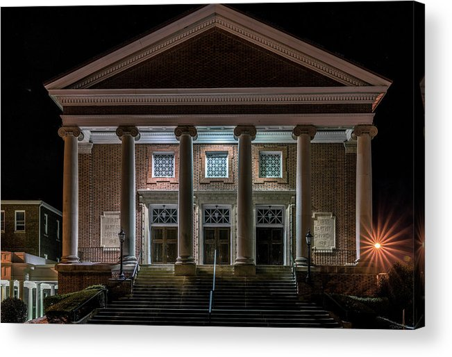 Bristol Acrylic Print featuring the photograph First Baptist Church by Dion Wiles