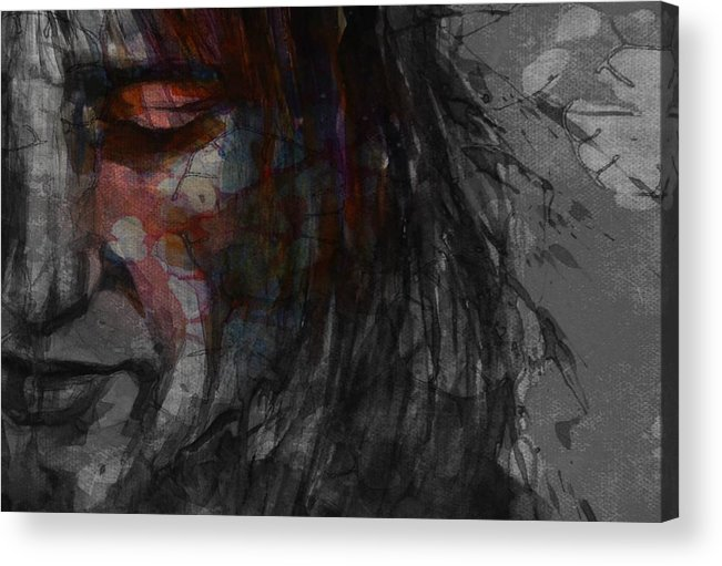 Rod Stewart Acrylic Print featuring the mixed media First Cut Is The Deepest Rod Stewart by Paul Lovering