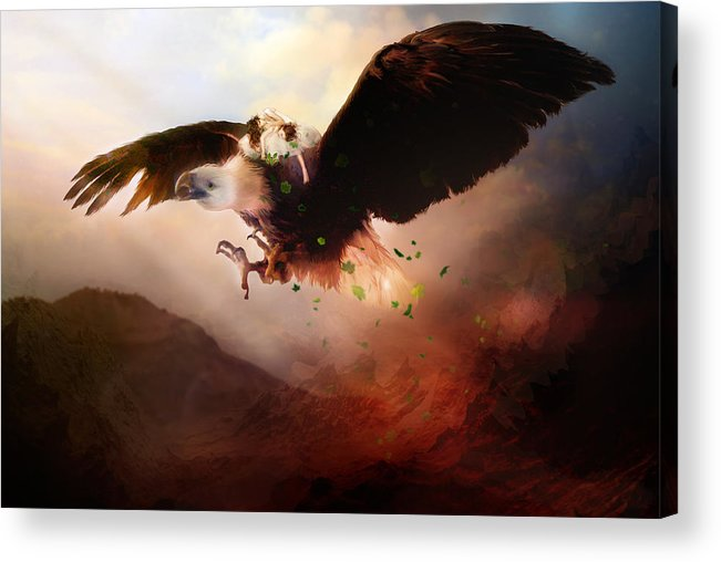 Children Acrylic Print featuring the digital art Flight Of The Eagle by Mary Hood