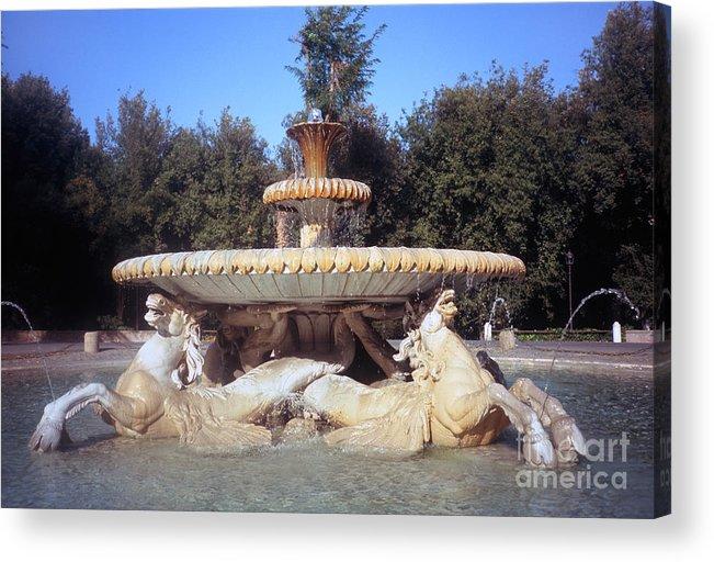 Villa Acrylic Print featuring the photograph Fontana Dei Cavalli Marini by Fabrizio Ruggeri