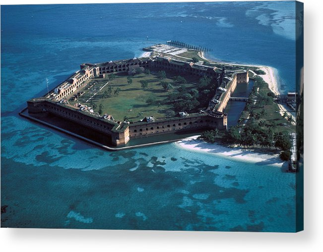 Fort Acrylic Print featuring the photograph Fort Jefferson by Carl Purcell