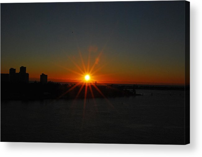 Sunrise Acrylic Print featuring the photograph Fort Lauderdale Sunrise by Gary Wonning