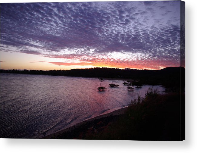 Landscape Acrylic Print featuring the photograph Four Elements Sunset Sequence 6 Coconuts Qld by Kerryn Madsen-Pietsch