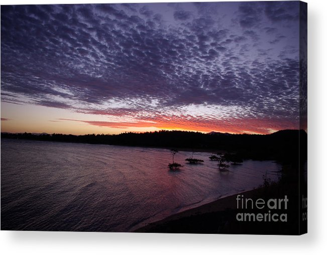 Landscape Acrylic Print featuring the photograph Four Elements Sunset Sequence 7 Coconuts Qld by Kerryn Madsen - Pietsch