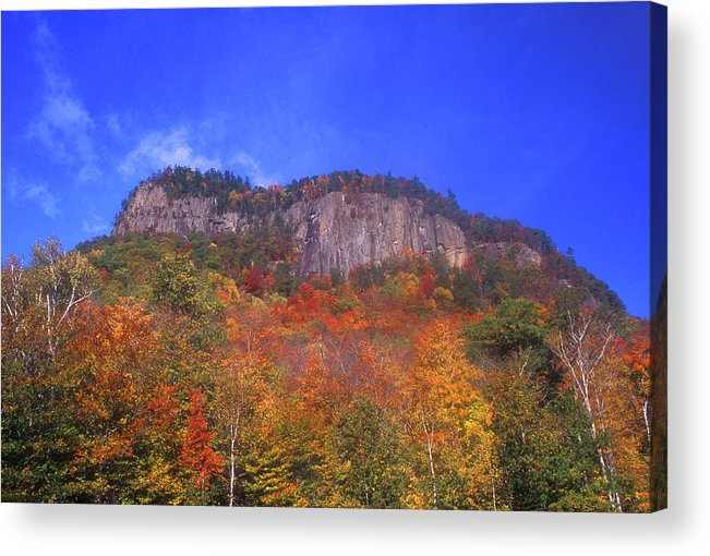 New Hampshire Acrylic Print featuring the photograph Frankenstein Cliffs Crawford Notch by John Burk