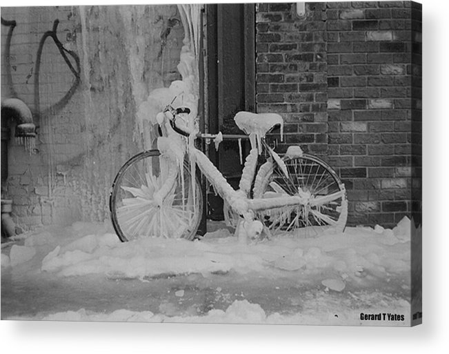 Bicycle Acrylic Print featuring the photograph Frozen Bike by Gerard Yates