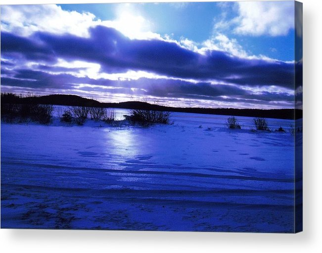 Landscape Acrylic Print featuring the photograph Frozen In Time by Sharon Stacey