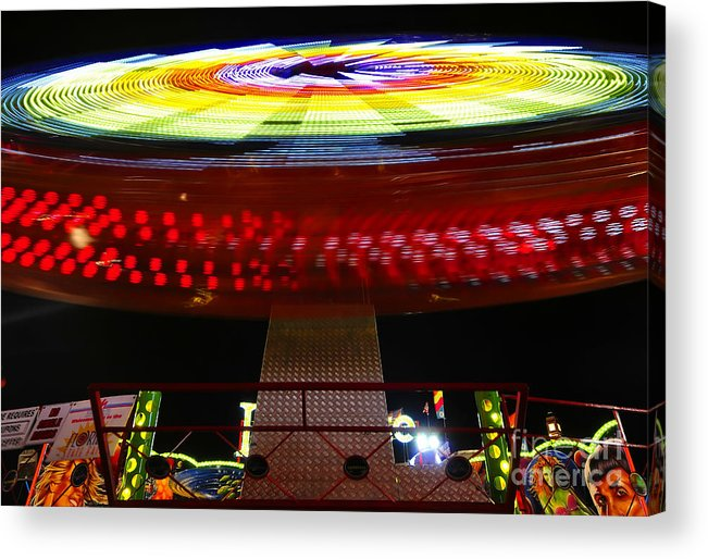 Enterprise Acrylic Print featuring the photograph Fun With Spock by David Lee Thompson