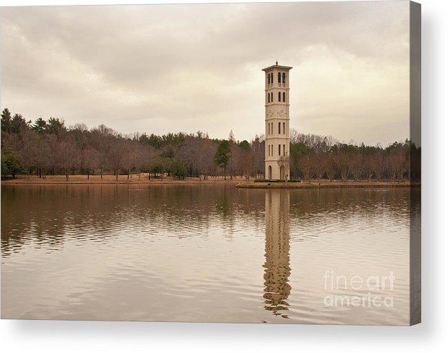 Furman University Acrylic Print featuring the photograph Furman Bell Tower 4 by David Waldrop
