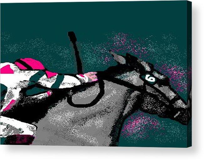 Race Horse Acrylic Print featuring the digital art Go by Carole Boyd