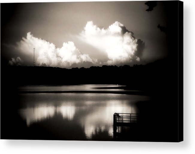 Sepia Acrylic Print featuring the photograph God's Country by Karen Scovill