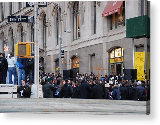 Church Acrylic Print featuring the photograph Good Friday On Trinity Place by Rob Hans