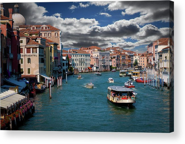 Grand Canal Acrylic Print featuring the photograph Grand Canal Daylight by Harry Spitz
