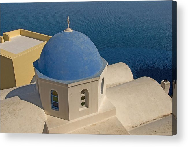 Greek Island Acrylic Print featuring the photograph Greek Island Dome by Charles Ridgway