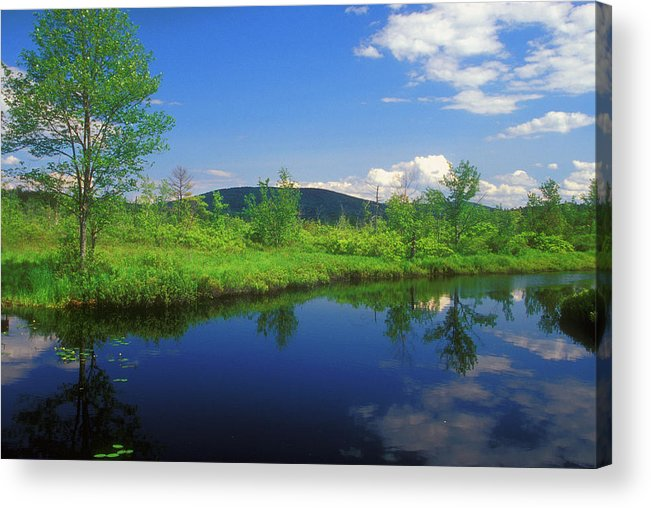 New Hampshire Acrylic Print featuring the photograph Gridley River Wapack Mountains by John Burk