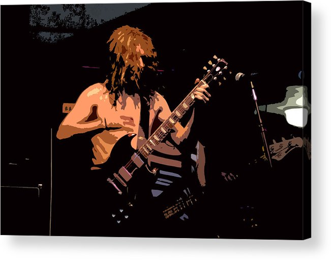 Music Acrylic Print featuring the painting Guitar Player by David Lee Thompson