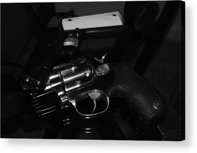 Guns Acrylic Print featuring the photograph Guns And More Guns by Rob Hans