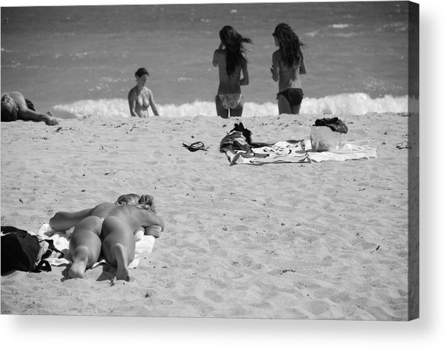 Miami Acrylic Print featuring the photograph Half Dead Half Alive by Rob Hans
