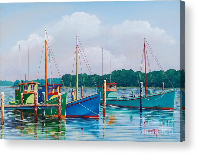 Landscape Acrylic Print featuring the painting Happier Times by Hugh Harris
