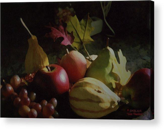 Harvest Acrylic Print featuring the photograph Harvest II by Eileen Blair