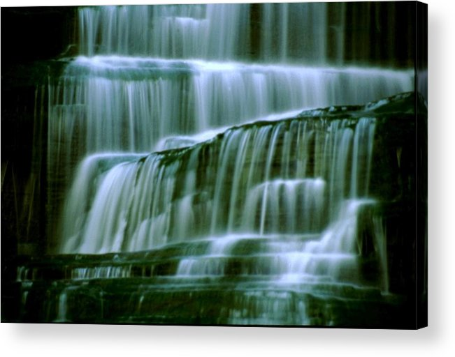 Waterfall Acrylic Print featuring the photograph Hector Falls -detail by Roger Soule