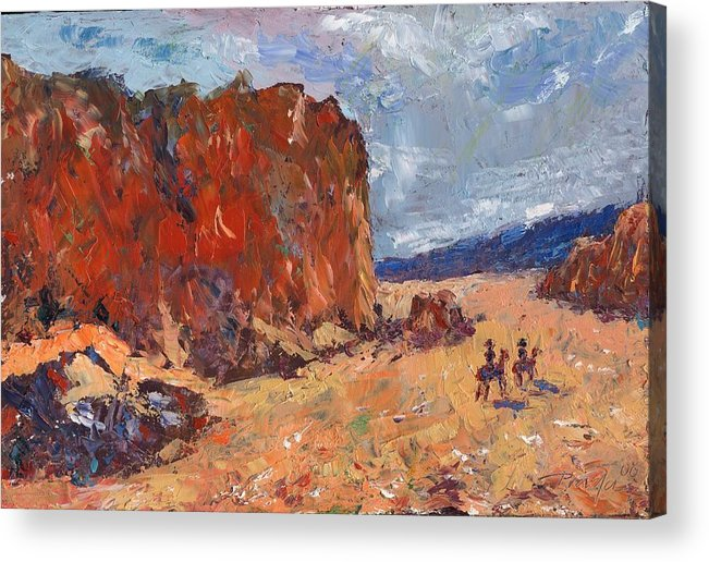 Oil Acrylic Print featuring the painting High Noon by Horacio Prada