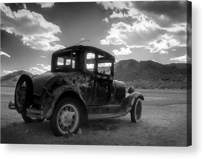 Car Acrylic Print featuring the photograph Highway Shoes by Wayne Stadler