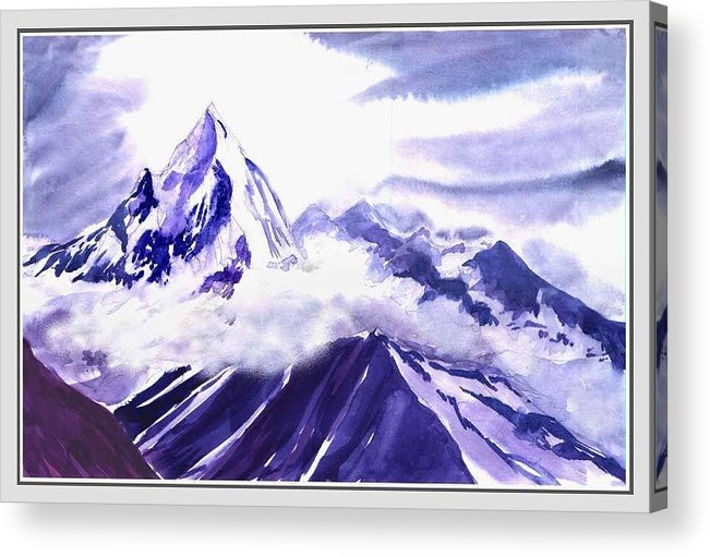 Landscape Acrylic Print featuring the painting Himalaya by Anil Nene