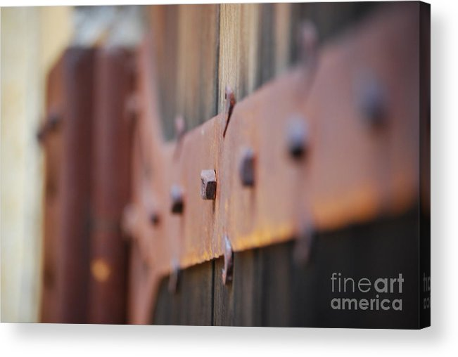 Door Acrylic Print featuring the photograph Hinge by Lori Leigh