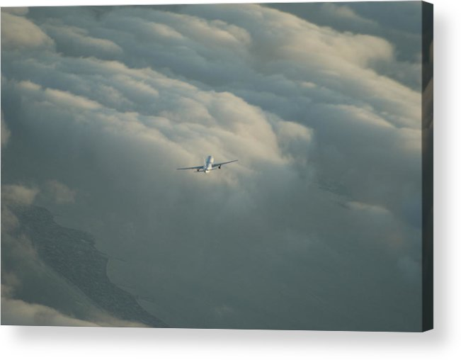 Airplane Acrylic Print featuring the photograph Holding by Brian Anderson