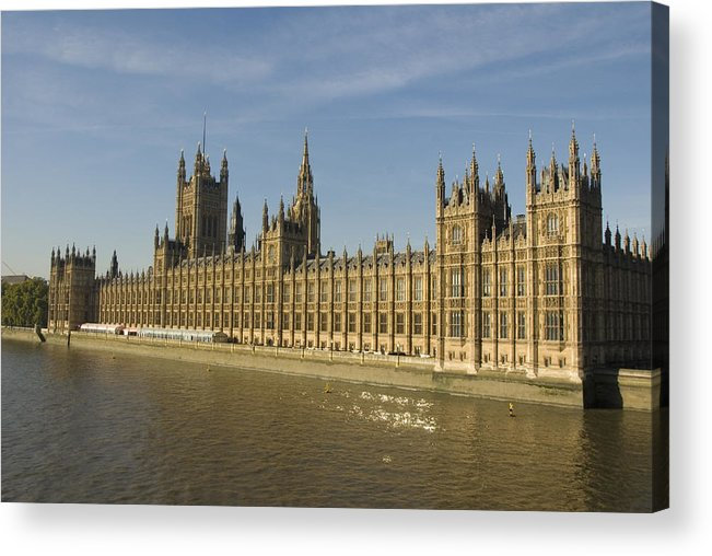 Parliament Acrylic Print featuring the photograph Houses Of Parliament On A Rare Day by Charles Ridgway