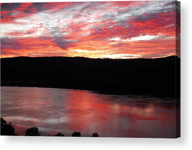 River Acrylic Print featuring the photograph Hudson River Sunrise by Sandra Dunlap