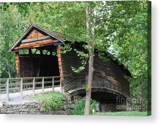Rock Acrylic Print featuring the photograph Humpback Bridge by Eric Liller