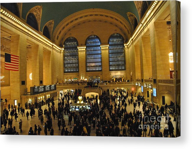 Grand Central Terminal Acrylic Print featuring the photograph Hustle Bustle by Jacqueline M Lewis