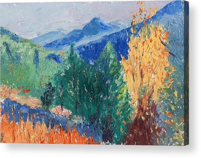 Landscape Acrylic Print featuring the painting In The Hills by Horacio Prada