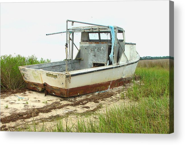 Boat Acrylic Print featuring the photograph Island Boat by Debbie May