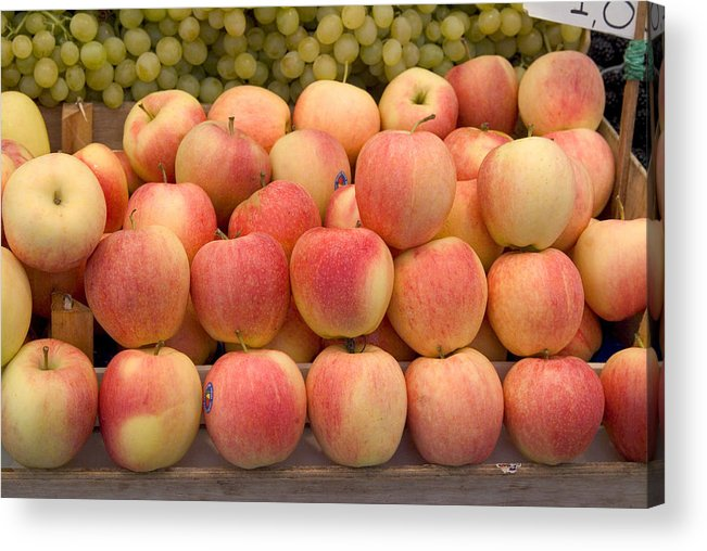 Apples Acrylic Print featuring the photograph Italian Fruit Display by Charles Ridgway