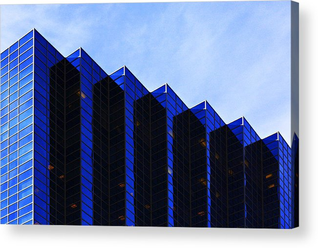Architecture Acrylic Print featuring the photograph Jagged Sky Scraper by Marilyn Hunt