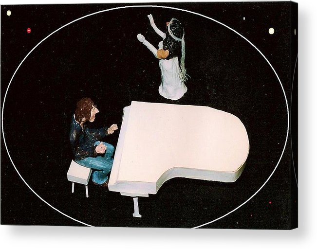Beatles Acrylic Print featuring the mixed media John And Yoko Soul Searching by Richard Hubal