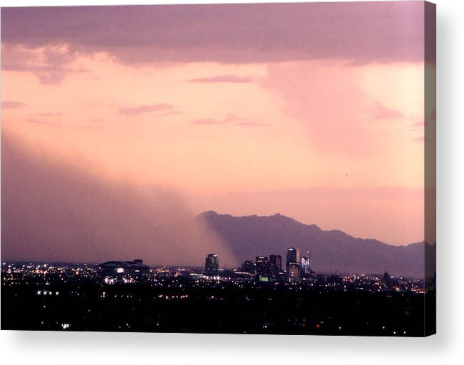 Arizona Acrylic Print featuring the photograph July Dust by Cathy Franklin
