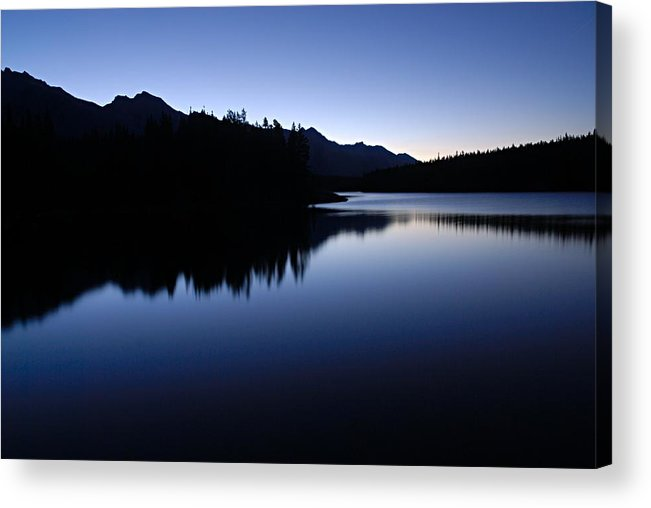 Johnson Lake Acrylic Print featuring the photograph Just Before Dawn by Larry Ricker