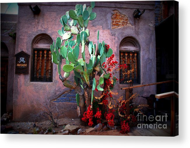 Hacienda Acrylic Print featuring the photograph La Hacienda In Old Tuscon Az by Susanne Van Hulst