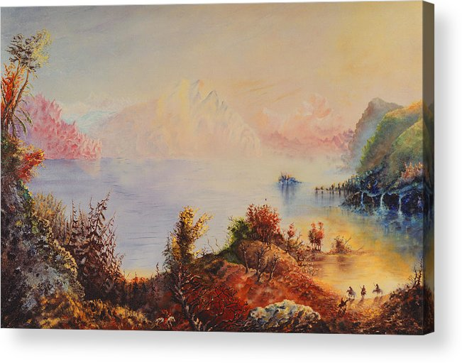 Western Acrylic Print featuring the painting Lewis And Clark by Richard Barham