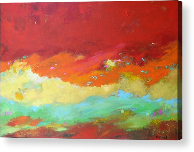 Acrylic Print featuring the painting Life Adventures by Karen Fields