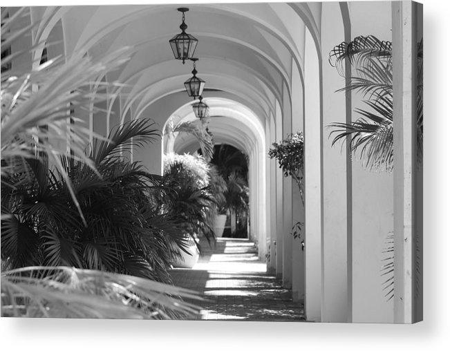 Architecture Acrylic Print featuring the photograph Lighted Arches by Rob Hans