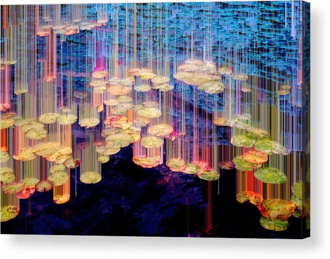 ;andscape Acrylic Print featuring the photograph Lily Pad 4 Flow by Lyle Crump
