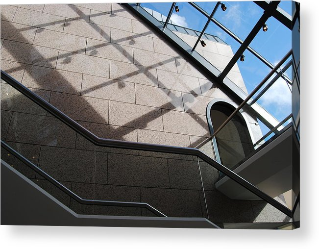 Acrylic Print featuring the photograph Lines And Reflections by Marilynne Bull