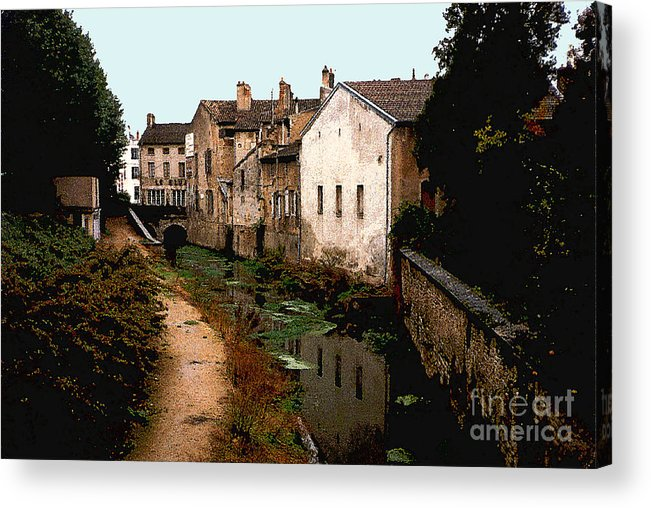 France Acrylic Print featuring the photograph Loire Valley Village Scene by Nancy Mueller