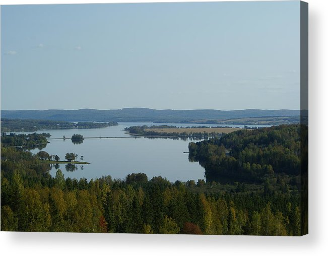 Landscape Acrylic Print featuring the photograph Long Lake by Lisa Hebert