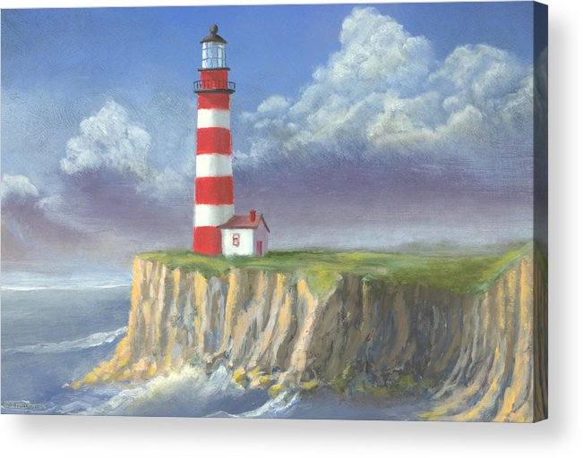 Light Acrylic Print featuring the painting Lost Point Light by Jerry McElroy
